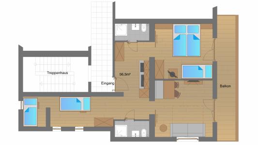 """Appartement """"Birnhorn"""" Grundrissplan"""